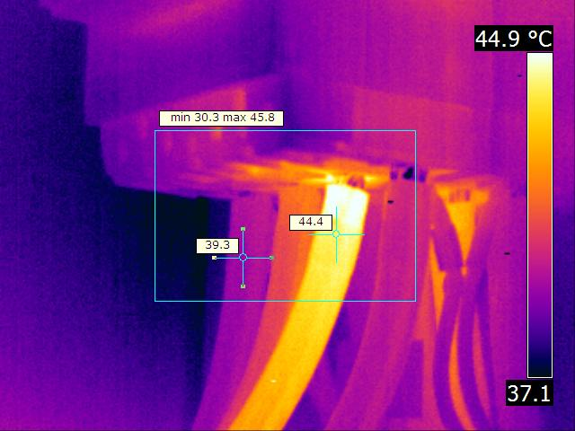 2 - Thermographie câble alu aval disjoncteur